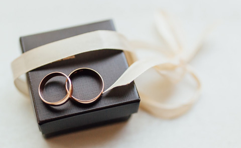プレゼントされた婚約指輪